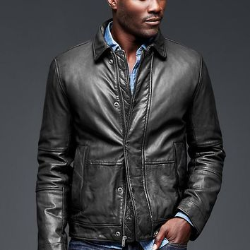 Gap Men Leather Jacket