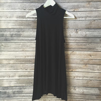 Staple Mock Neck Dress (Black)