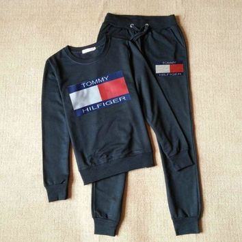 PEAPON  Tommy Hilfiger 'Sweatshirt Sweater Pants Sweatpants Set Two-Piece Sportswear
