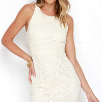 Stage Whisper Cream Lace Dress