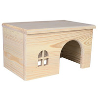 Trixie Wooden House for Rabbits   Bunny Approved – House Rabbit Toys, Snacks, and Accessories
