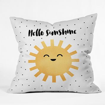 Elisabeth Fredriksson Hello There Throw Pillow