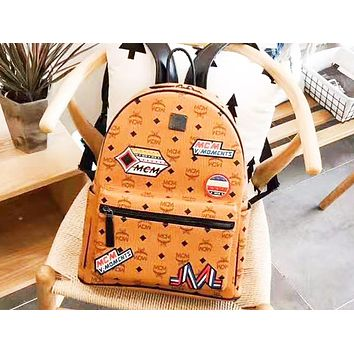 MCM new trend classic print men and women shoulder bag backpack