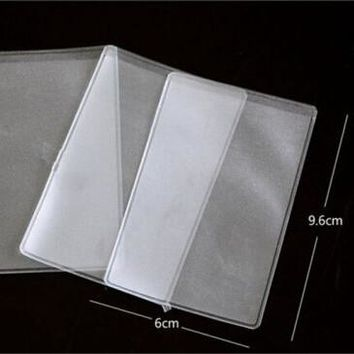 10pcs Dustproof Clear Card Holders Soft Plastic Credit Card Protectors Bussiness Card Cover ID Holders 9.6x6cm