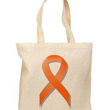 Leukemia Awareness Ribbon - Orange Grocery Tote Bag