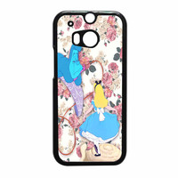Alice In Wonderland Floral HTC One M8 Case