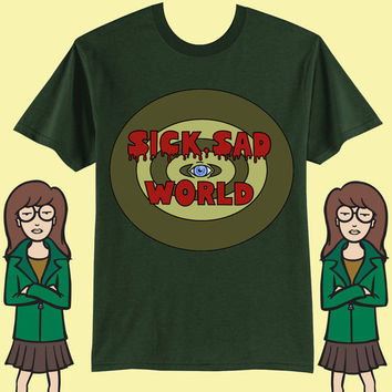 UNISEX Sick Sad World MTV 90s Daria T-Shirt // Pastel Grunge // Vaporwave Aesthetic // Seapunk // fASHLIN