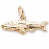 Fish Charm in Yellow Gold Plated