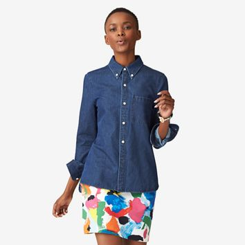 Kate Spade Saturday Perfect Day Shirt In Denim