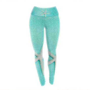 "Sylvia Cook ""Starfish"" Yoga Leggings"