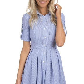 The Taylor Seersucker Dress – Lauren James