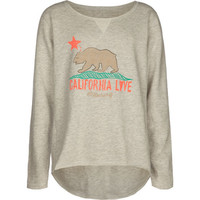 Billabong Bear Hugs Girls Sweatshirt Grey  In Sizes