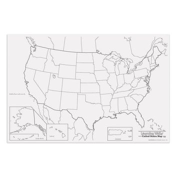 Giant Us Map 48in X 72in