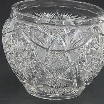 American Brilliant Period Cut Glass  ABP  Antique jardiniere