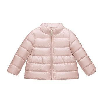 Moncler Joelle Collared Down Coat, Size 3 Months-3