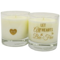 Let All Hearts Bee-Free Candle: PETA Catalog