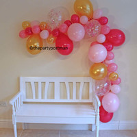 6 Foot Balloon Garland / Arch New Years Eve Bachelorette Party Decor, Photo Booth Prop, Balloon Backdrop,