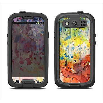 The WaterColor Grunge Setting Samsung Galaxy S4 LifeProof Fre Case Skin Set