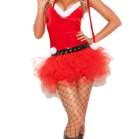 Red Tutu Dress Santa Costume