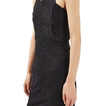Topshop Mix Lace Body-Con Dress | Nordstrom