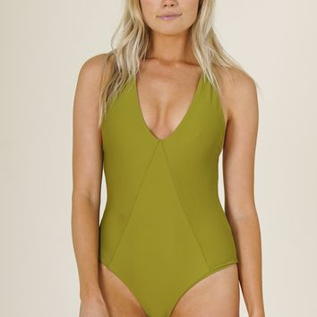 Stone Fox Swim - Palma One Piece | Avocado