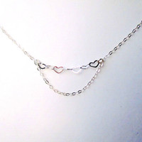Love Necklace Sterling Silver Heart Necklace - Perfect Love