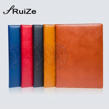 RuiZe high quality A4 faux leather notebook hard cover creative big notebook planner organizer business stationery note book