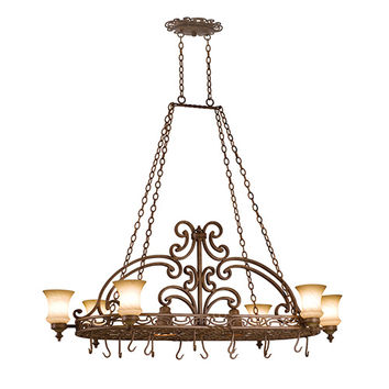 Kalco Lighting 4450TN Hamilton Tuscan Sun Eight-Light Pot Rack