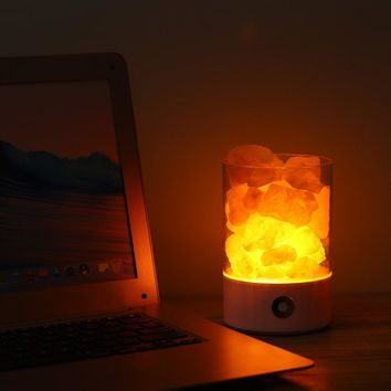 Real Himalayan Salt Crystal Rock Lamp