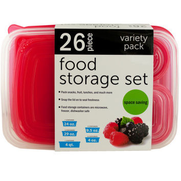 Variety Nesting Food Storage Container Set ( Case of 3 )