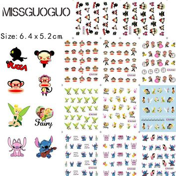 BLE1797-1807 cartoon nail art sticker stitch & Paul Homme & princess water decals nail art stickers water transfer