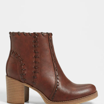 Joelle heeled bootie with whip stitching | maurices