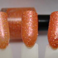 Orange Sherbet- Custom Glitter Nail Polish