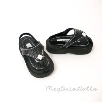 "Black Sandals fit 21"" Maru & Friends Dolls, or Sasha Dolls"
