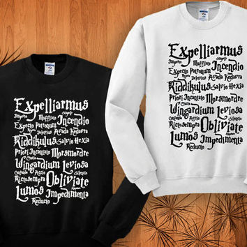Magic spell Harry Potter sweatshirt black and white size S - 3XL
