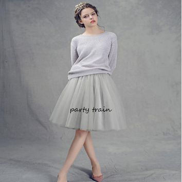 7 Layers High Waist Women Tulle Skirt American Apparel Tutu Skirts Womens Lolita Petticoat 2018 Summer Faldas Saia Jupe