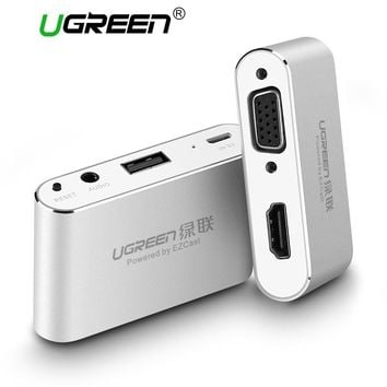 Ugreen 3 in 1 USB Audio Adapter USB to HDMI VGA + Video Converter Digital AV Adapter For iPhone 8 7plus 6S For iPad For Samsung