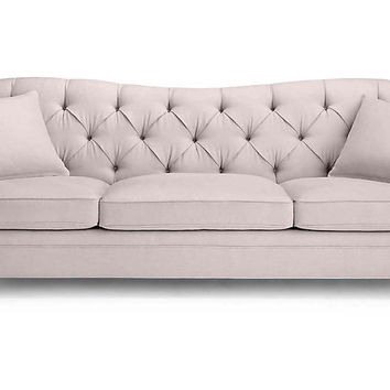 Drake Tufted Sofa, Lilac - kate spade new york - Brands | One Kings Lane