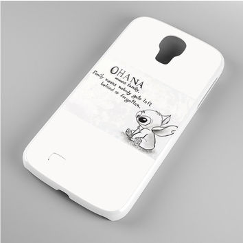 Lilo & Stitch Ohana Means Family Drawing Samsung Galaxy S4 Case