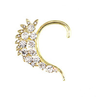 Designer Crusted Crystal Ear Cuff