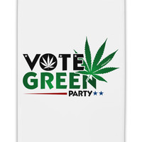 "Vote Green Party - Marijuana Fridge Magnet 2""x3"