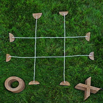 Backyard Tic Tac Toe | backyard games, wooden beach games