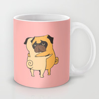 Pug Hugs Mug by Huebucket