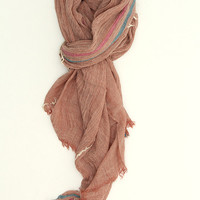 Frayed Edge Scarf- Red