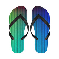 color gradient Flip Flops for Men/Women (Model 040) | ID: D2693779
