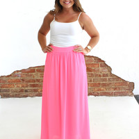 Forget The Rules Skirt - Neon Bubblegum