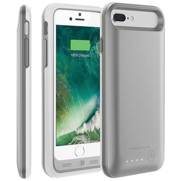 Press Play Iphone 7 Plus Nero7 Battery Case (silver)