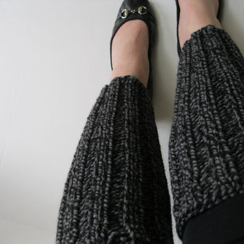 Leg Warmers Wool : Custom Handknit Chunky Legwarmers in Color of your Choice - Custom Knit