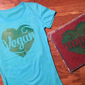 Vegan // t-shirt // womens medium