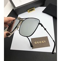 Gucci Trending Women Men Stylish Simple Summer Sun Shades Eyeglasses Glasses Sunglasses Silvery Grey I-A-SDYJ